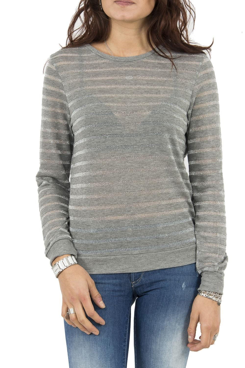 tee shirt manches longues only 15145166 dianna gris