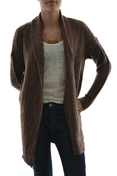 gilets cardigans only palermo marron