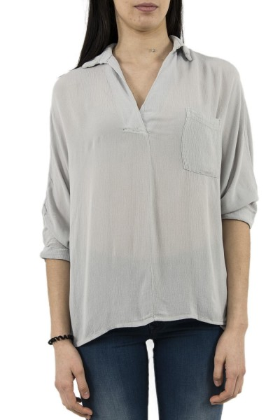 tee shirt manches longues bsb 037-216007 gris
