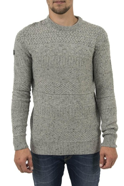 pull hiver superdry m61010yp gris