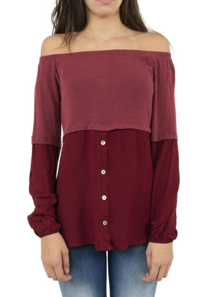 tee shirt manches longues bsb 038-210038 rouge