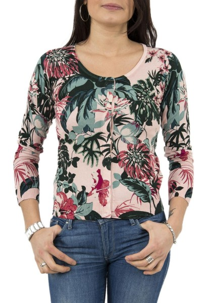 gilets cardigans guess jeans w82r23 cardi rose