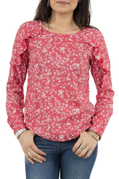 tee shirt manches longues street one 340758 rose
