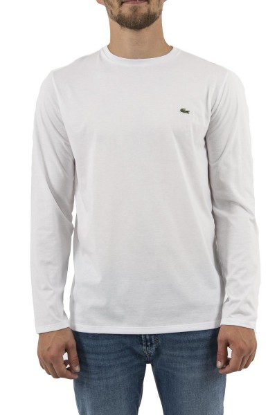 tee shirt manches longues lacoste th6712 blanc