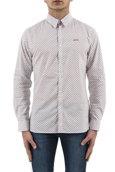 chemise guess jeans m92h25 collins rose