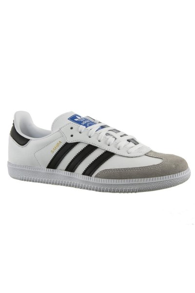 baskets mode adidas originals bb6976 samba og j blanc