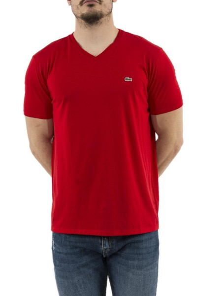tee shirt lacoste th6710 rouge