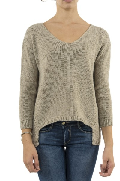 pull hiver please m49774001 beige