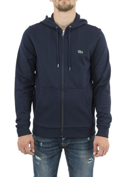 sweat lacoste sh8549 bleu