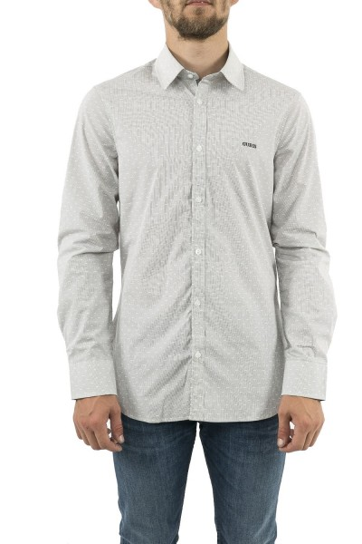 chemise guess jeans m93h20 sunset gris