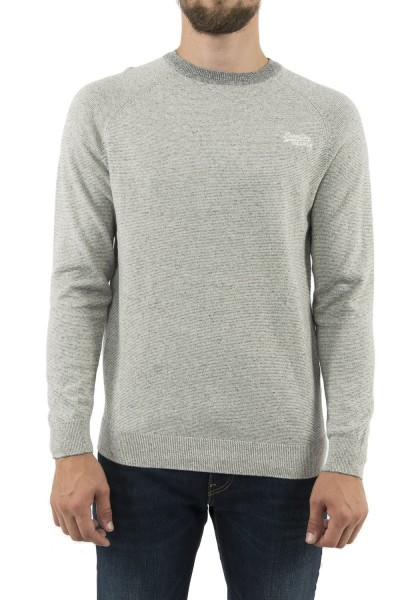 pull hiver superdry m6100025a gris