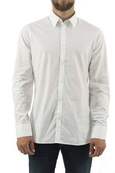 chemise guess jeans m94h20 sunset blanc