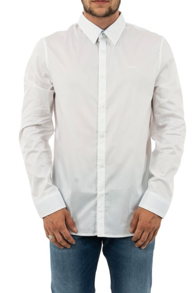 chemise guess jeans m94h25 collins blanc