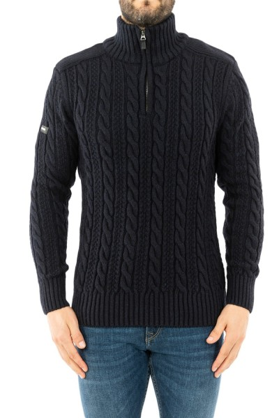pull hiver superdry m6100022a t6k downhill navy twist
