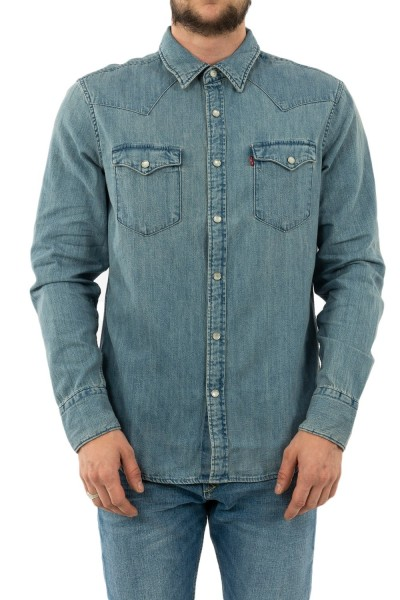 chemise jeans levis barstow western red cast stone