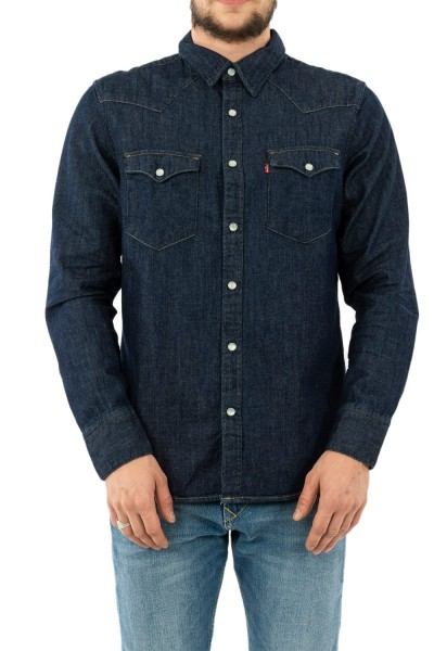 chemise jeans levis barstow western rinse marbled