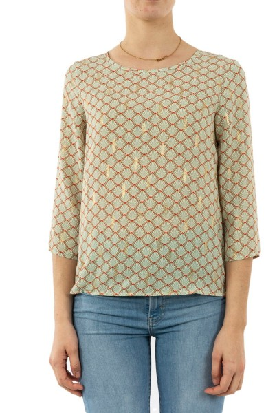 tee shirt manches longues only maria frosty green