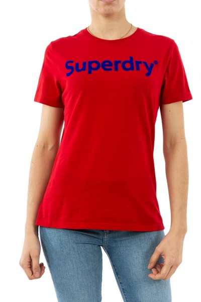 tee shirt superdry w1010023a wa7 rouge red