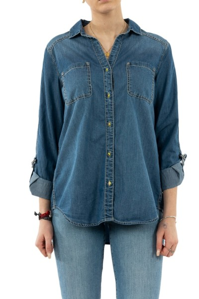 chemisier street one 341828 12195 mid blue soft washed