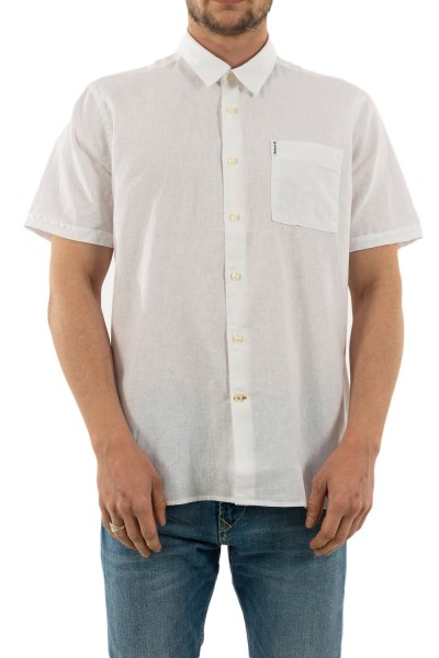 chemise manches courtes barbour msh4676 wh11 white