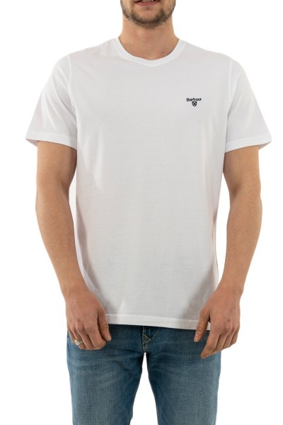 tee shirt barbour mts0331 wh11 white