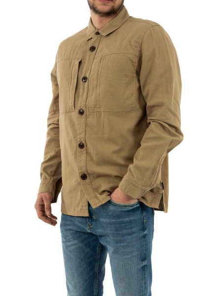 chemise barbour mos0090 st51 stone