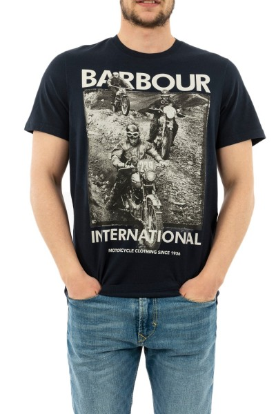 tee shirt barbour mts0666 ny91 navy