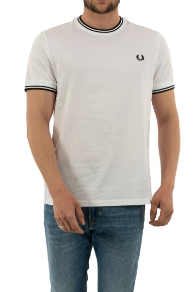 tee shirt fred perry m1588 100 white