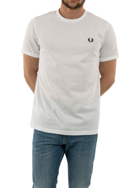 tee shirt fred perry m3519 100 white