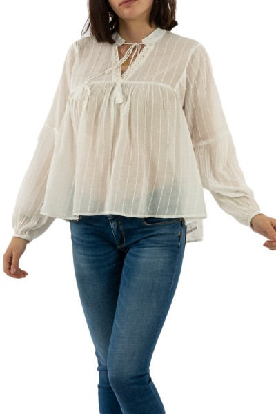 tee shirt manches longues only new elisa cloud dancer