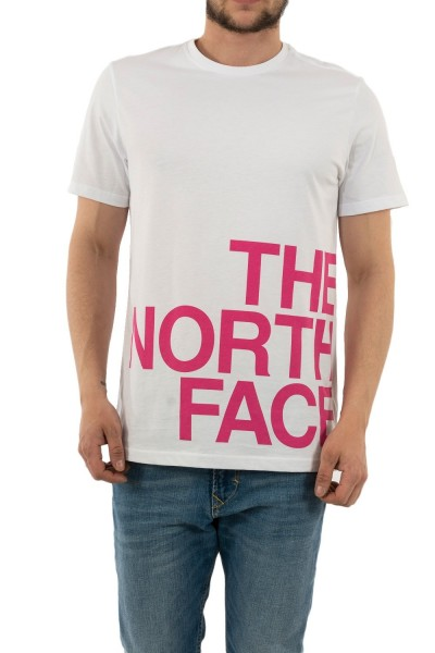 tee shirt the north face graphic flow 1 p81 white