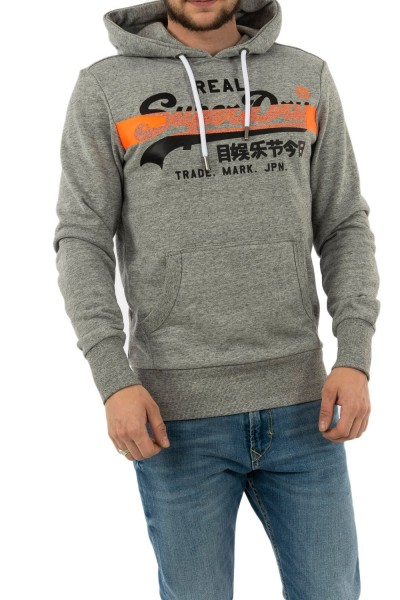 sweat superdry m2010071a 9ss collective dark grey grit