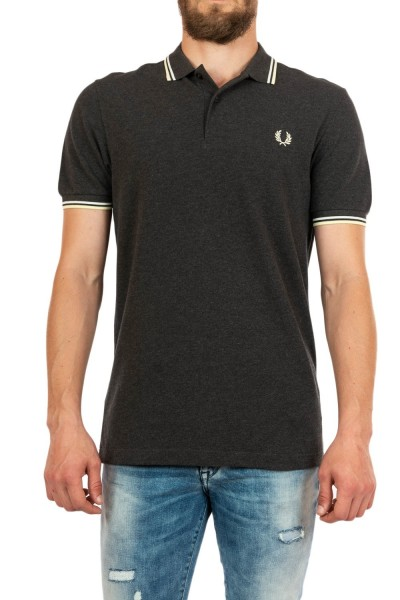 polos fred perry mm3600 328 charcoal sol mar