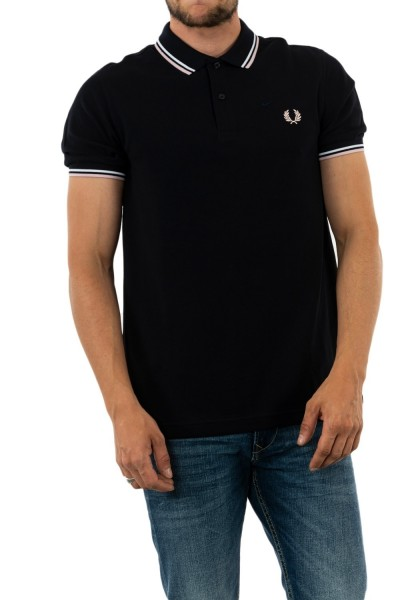 polos fred perry mm3600 j78 nvy/wht/silverpn