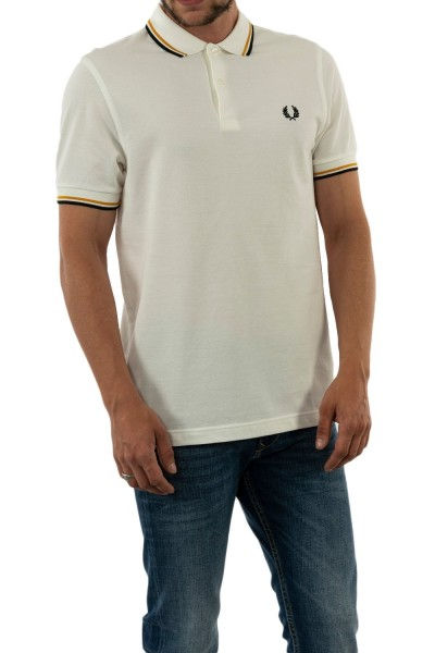 polos fred perry mm3600 j81 snw/gld/blk