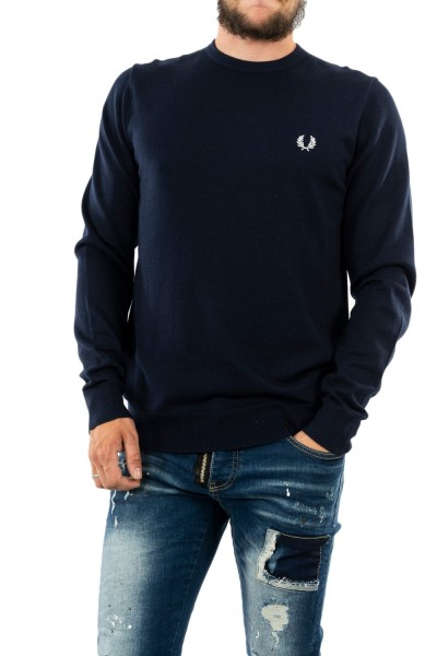 pull hiver fred perry classic crew neck 608 navy