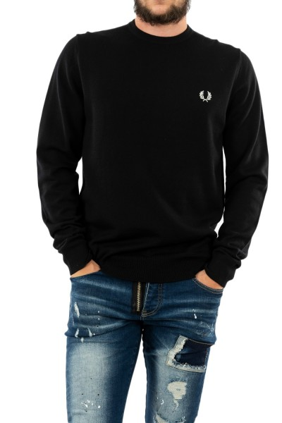 pull hiver fred perry classic crew neck 102 black