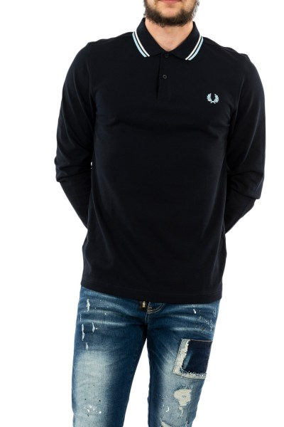polos manches longues fred perry m3636 608 navy