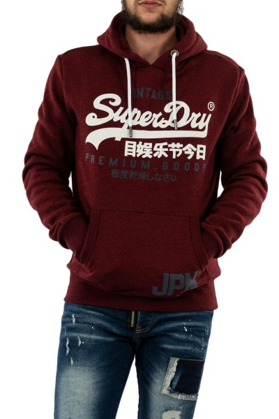 sweat superdry m2010428a 3oy rich red grit
