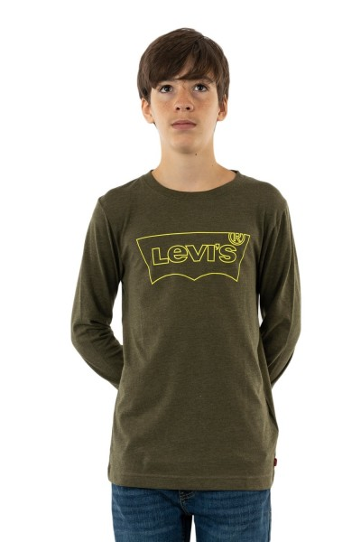 tee shirts manches longues levis graphic e8a olive night heather