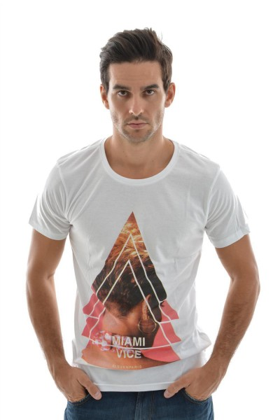 tee shirt eleven paris miami men blanc