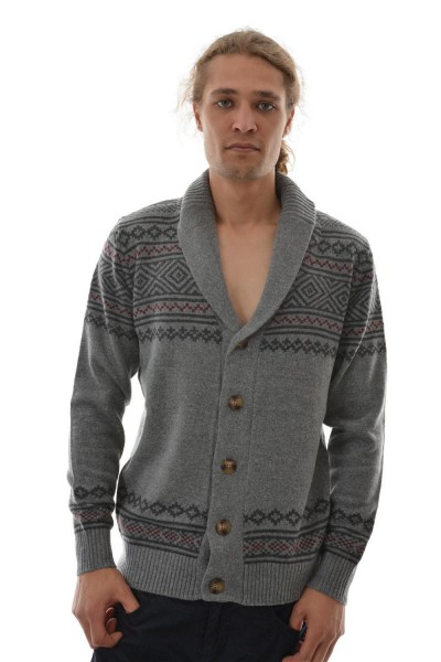 pull hiver Jack And Jones anton knit cardigan gris