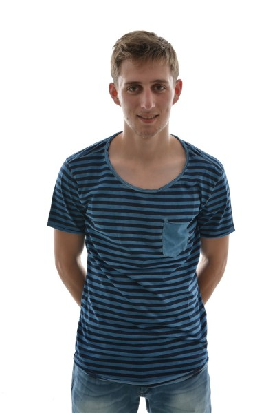 tee shirt tom tailor 1031393 t-shirt,1/2 bleu