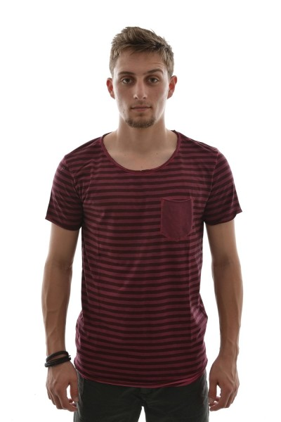 tee shirt tom tailor 1031393 t-shirt,1/2 rouge