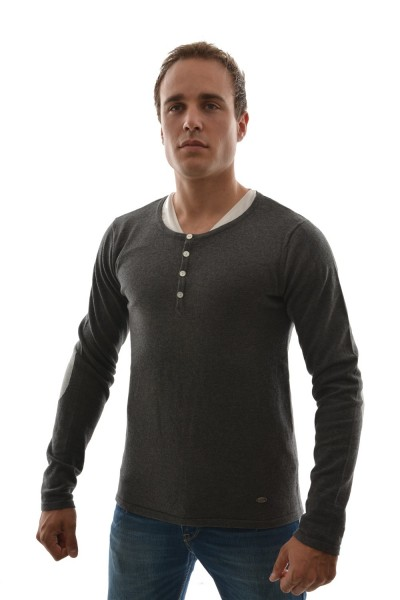 pull hiver dn sixtyseven sm220 gris