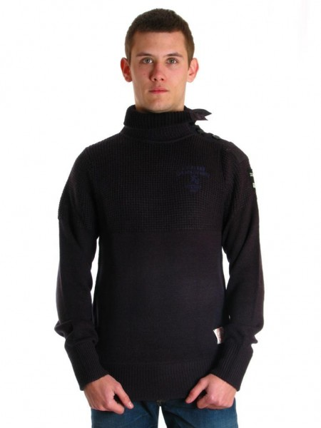 pull hiver g star raw lava coll knit gris