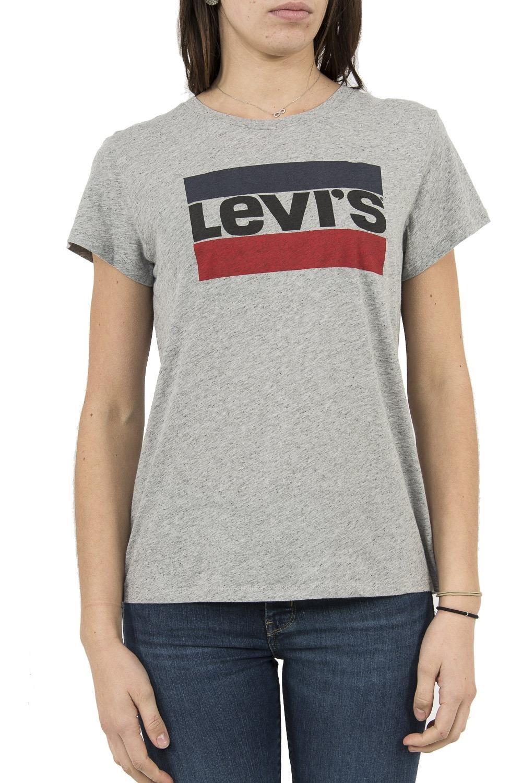 Shirt Gris Levis Femme Femme T Levis Shirt T j4RLA35
